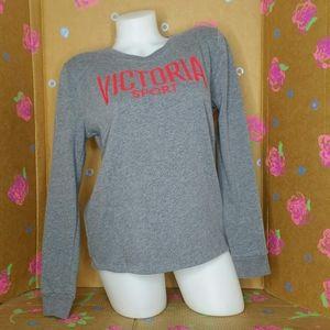 VS Victoria Sport Long Sleeve Gray Sweatshirt S